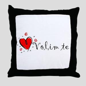 """""""I Love You"""" [Bosnian] Throw Pillow"""